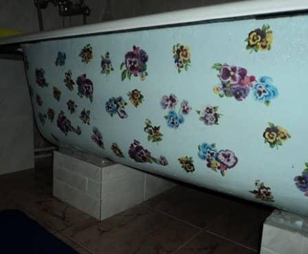 Декупаж ванны своими руками