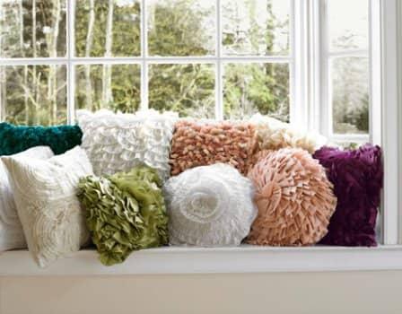 Декорирование подушек - фото-идеи