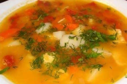 Картофельный суп с томатами