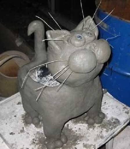 Как сделать кота из цемента