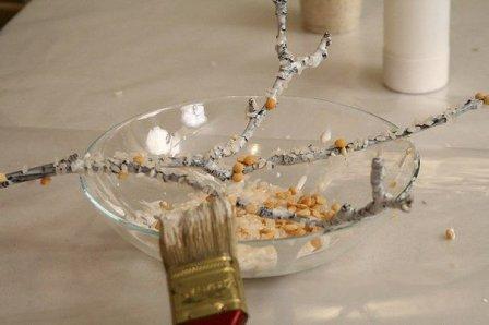 Имитация веточки коралла - декоративный элемент своими руками