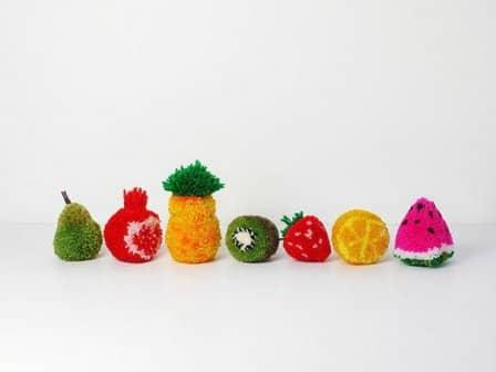 Помпоны-фрукты своими руками - мастер-класс