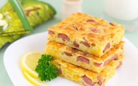 Пирог с сыром и сосисками (рецепт с фото)