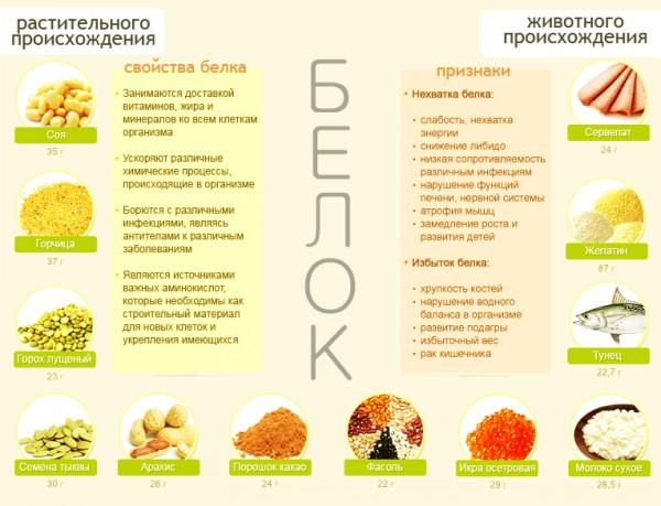 Что можно кушать на белковой диете список