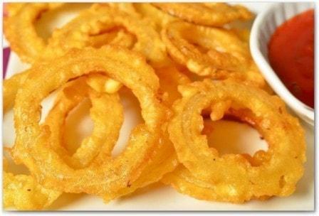 Луковые кольца в кляре (рецепт с фото)