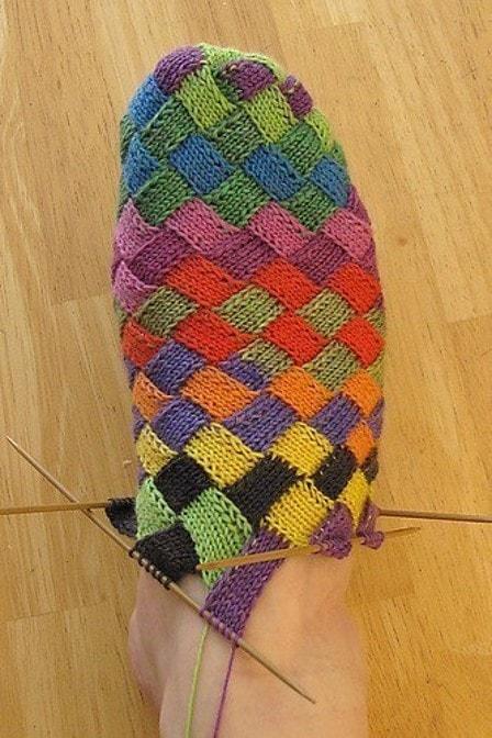 Вязание носков методом энтерлак
