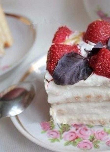 Торт из печенья и творога (рецепт с фото)