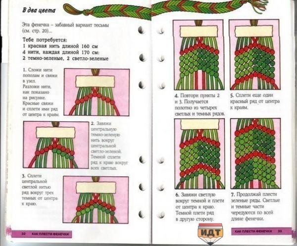 Фенечки из мулине схемы инструкция