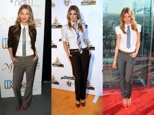 Женский образ с галстуком