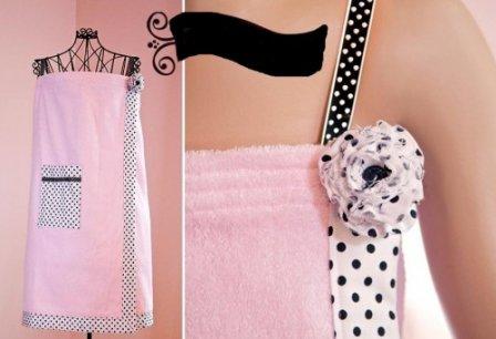Полотенце-сарафан для бани