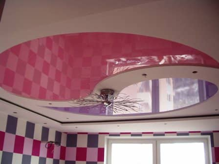 Оригинальные натяжные потолки в интерьере - фото