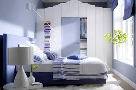Дизайн небольшой спальни - фото