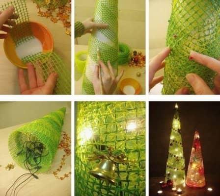 Идеи новогодних елочек своими руками