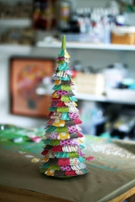 Настольная новогодняя елочка своими руками - мастер-класс