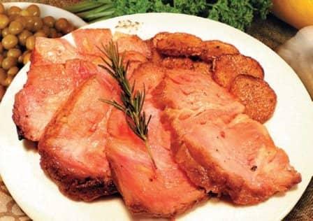 Свинина с эстрагоном и баклажанами