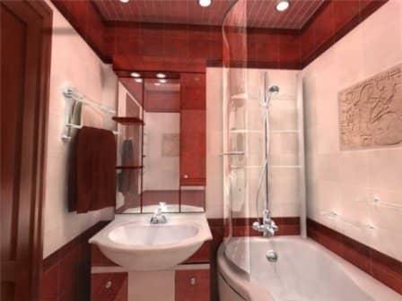 Интерьер маленькой ванной - фото