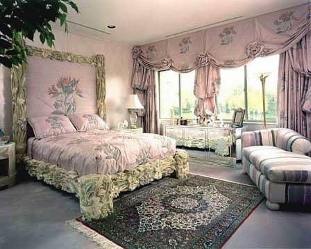 Спальня в романтическом стиле - фото