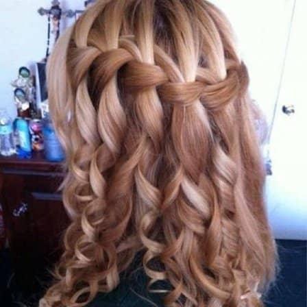 Модное плетение - коса-водопад