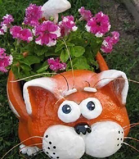 Декоративный кот-вазон - мастер-класс
