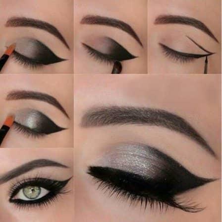 Новогодний макияж - техника нанесения + мастер-классы