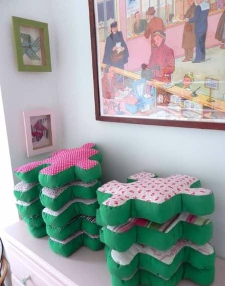 Подушки-пазлы - идея для рукоделия
