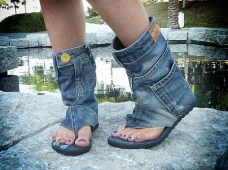 Старые джинсы: переделка