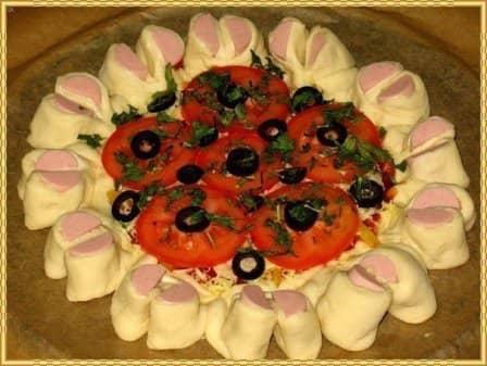 Праздничная пицца (рецепт с фото)