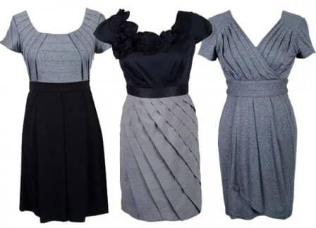 Модные платья из трикотажа для офиса