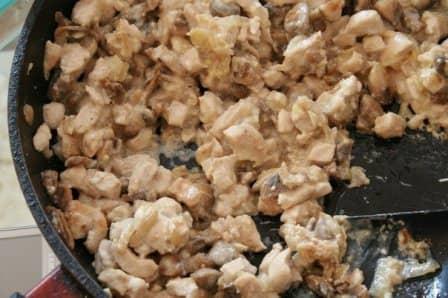 Багет, фаршированный курочкой и грибами (рецепт с фото)
