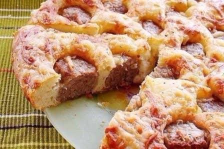 Пирог с фрикадельками (рецепт с фото)