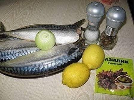Скумбрия-гриль с лимоном (рецепт с фото)