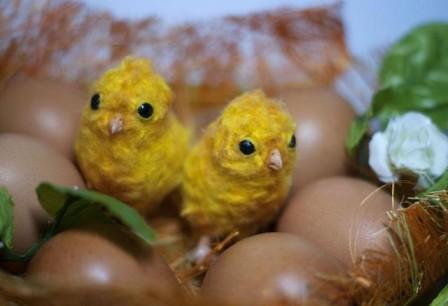 Цыплята к Пасхе своими руками