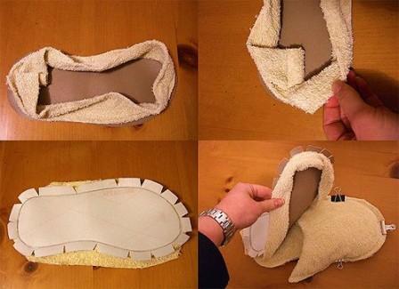 Как сшить тапочки своими руками - мастер-класс