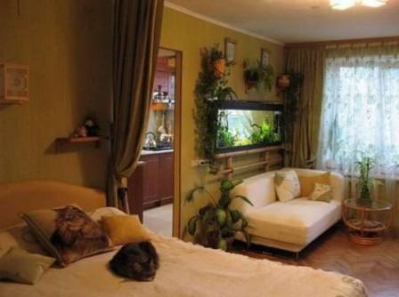 Красивый дизайн интерьера однокомнатной квартиры