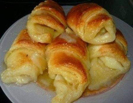 Слойки с яблоками (рецепт с фото)