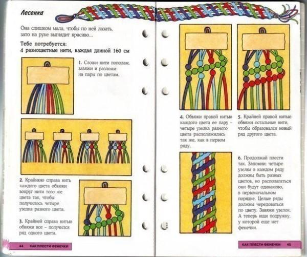Схемы плетения фенечек с описанием