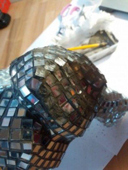 Заяц из зеркальной мозаики - мастер-класс