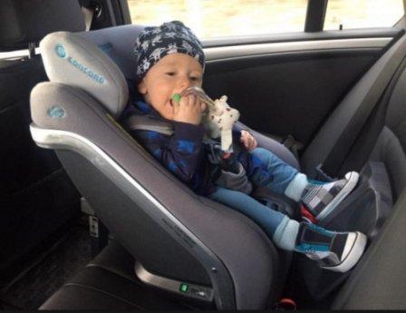 Приучаем малыша к автокреслу Concord