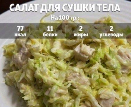 Салат для сушки тела: вкусно, сытно и очень диетично!