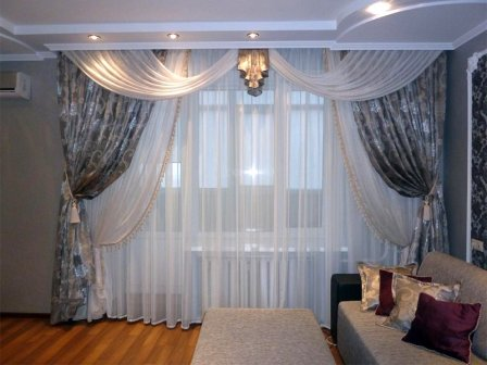 Гардины и шторы в интерьере + фото